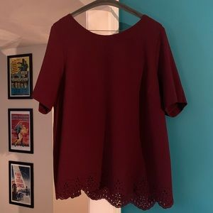 TORRID - crimson short sleeve blouse with details